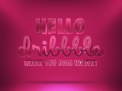 Hello Dribbble invite evan to you thank big dribbble hello shots debut