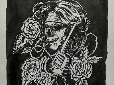 Guns 'N' Roses bw inking inked clothing apparel tees sketching gunsnroses