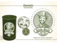 Cannabis Farm Industries Label & Logo Badge Template