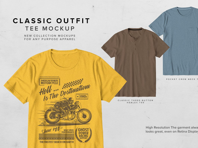 Classic Outfit Tee Mock-up tees tee mock-up classic t-shirt outfit clothing apparel