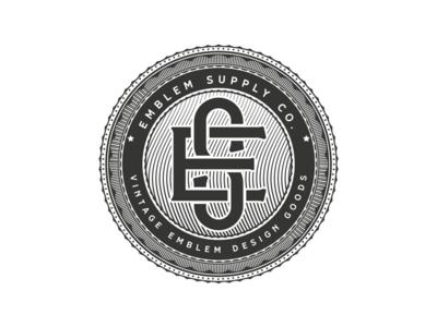 EmblemSupply Co. supply insignia badge retro vintage emblem logo