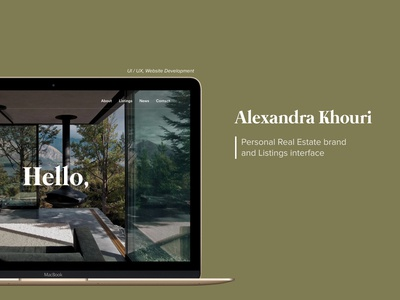 Real Estate Brand - Website UX brand identity property realtor real estate nature green web development case study branding mockup web design ux  ui