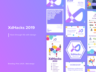 Hackathon - Brand Identity and Strategy webdesign purple event icon design flyer poster print brand identity branding illustration