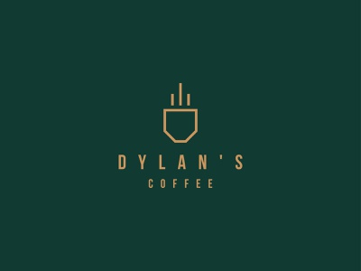 Dylan's Coffee Daily Logo Design Challenge Day 6 grapicdesign brand designer brand design brand bean day6 coffee bean shoplogo vector abstract branding logodesigners logodesign logo coffee shop logodesignchallenge dailylogo coffee