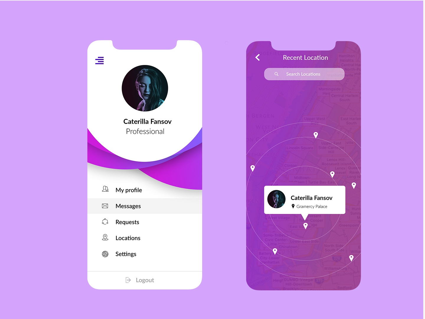 Profile App - IOS by Raj Dhanki on Dribbble