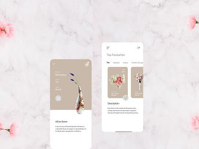 Flower Shop App flower bouquet delivery in dubai user interface user experience minimal ios iphone x flat design app ux ui new  trend flower design