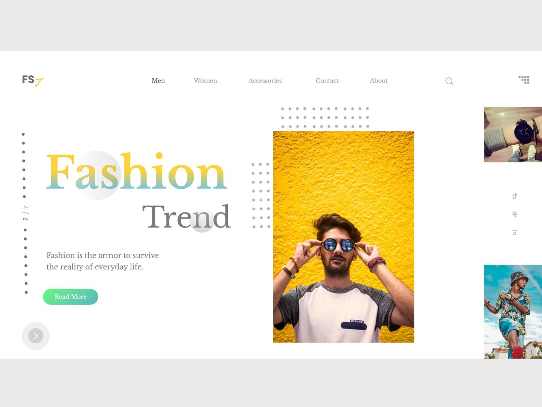 Fashion Trend ui inspiration cool colors handsome colors homepage ux ui typography e-commerce shop models fashion e-commerce design