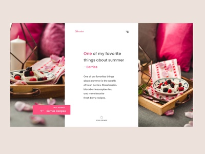 Summer Berries Page - Concept Website web ui  ux ui berry minimal layout flat design concept branding 2d