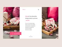 Summer Berries Page - Concept Website