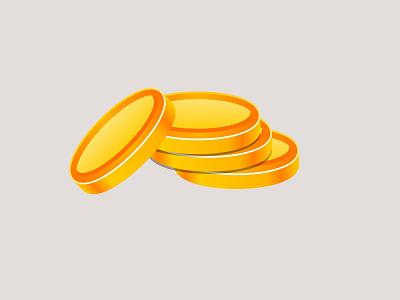 Coins Illustration web coinbase coins illustration vector concept ux ui design