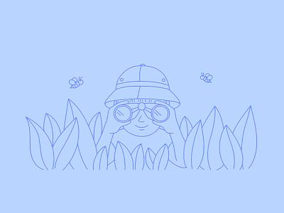 Person With Binoculars Art Illustration character uidesign flat vector minimal binoculars person ux illustration design ui