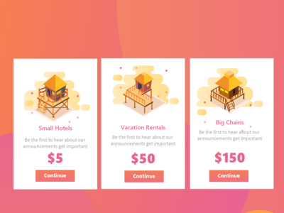 Hotels Onboarding Card Concepts