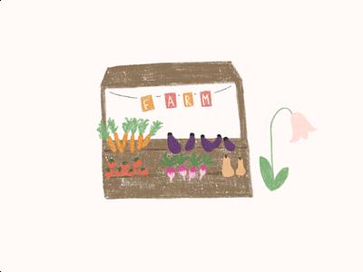 Roadside farmstand illustration for Keittiö app. art dailyui branding web ux ui illustration design app
