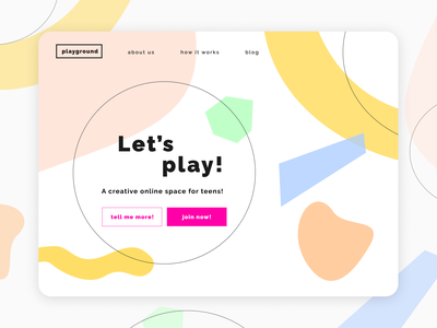 Playground homepage webdesign ui web branding design