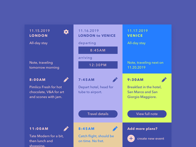 re:DailyUI 078 /// Intinerary itinerary modular ui 2018 dui daily ui ipad pro dailyui