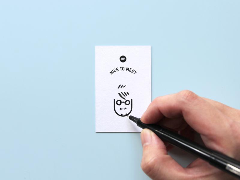 Hi! Nice to meet U logo illustrator illustraion icon graphic design graphicdesign graphic drawing design business card design business cards business card businesscard brand identity branding