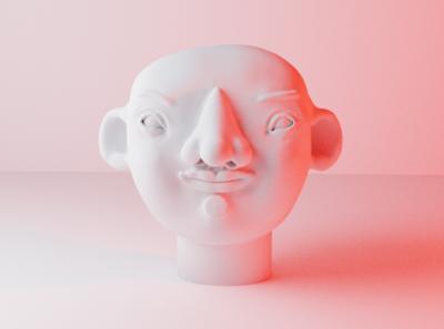 First 3D Character model 3d model 3d character 3d ilustration portrait 3d artist render blender 3d art 3d illustration