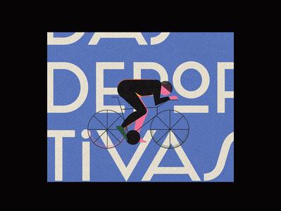 Olimpiadas deportivas La Habana 01 bicycle simple texture people minimal olympics sports design sports flat illustration