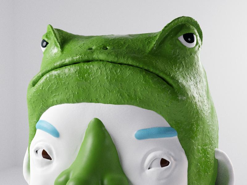 Friend blender 3d render render 3d character modeling 3d character character design 3d model model 3d 3d artist illustration 3d art frog