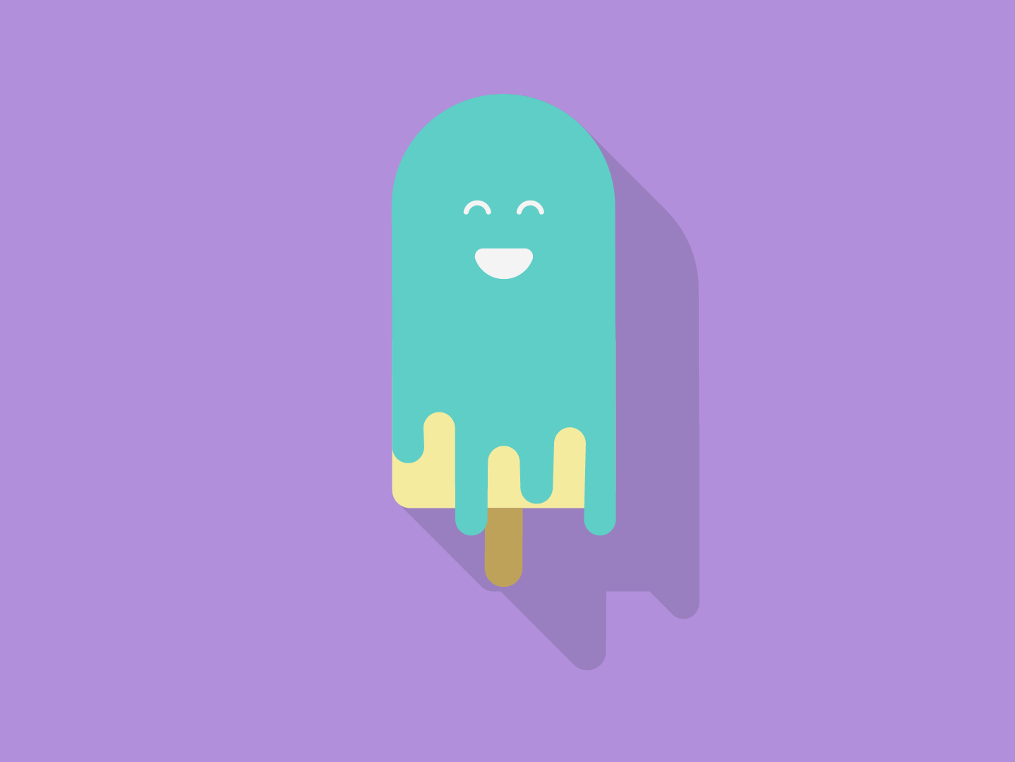 Flat Ice cream vector design flat illustration