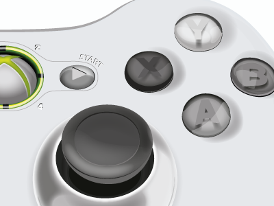 XBOX 360 Control Detail 360 xbox control illustration hand button