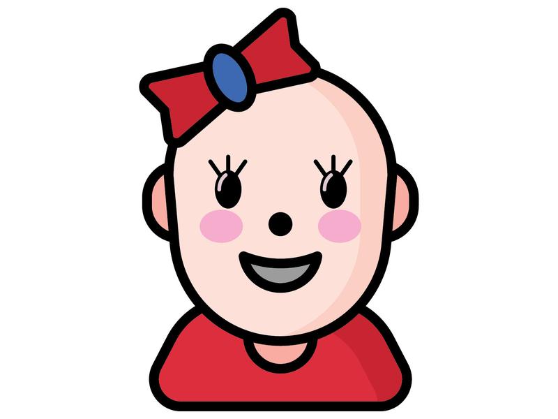 Baby Girl babygirl illustration icon