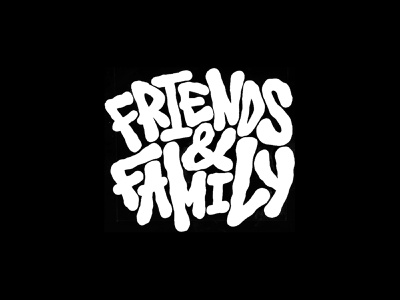 Friends & Family russia naming brand letters calligraphy montana cans tag tagging graffiti art lettering typography font logotype logo streetwear illustration drawing digitalart stampio