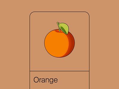 Orange render cell shading shadow rotate fruit orange blender3d 3d animation 3d toon simple app design app ui app animation animated clean ui black minimal