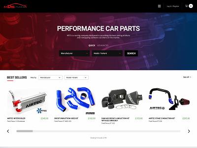 Performance Car Parts eCommerce Concept ux ui design ecommerce parts car