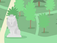 Cobtree lion statue