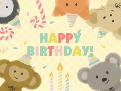 Happy Birthday-Starbucks cards