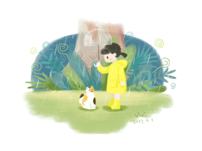 Little girl&umbrella
