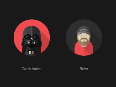 Vader darth vader sw flat avatar boss
