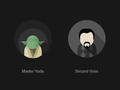Master Yoda master yoda yoda sw flat avatar art director second boss ad