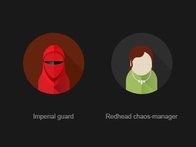 Emperor's Royal Guard redhead chaos manager avatar flat sw imperial guard royal guard