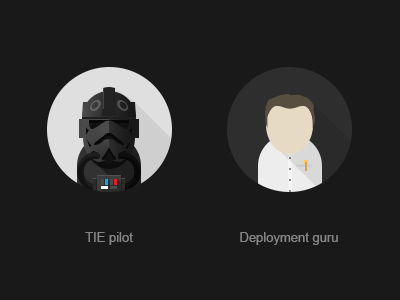 TIE pilot tie fighter tie pilot avatar flat sw deployment guru programmer pilot
