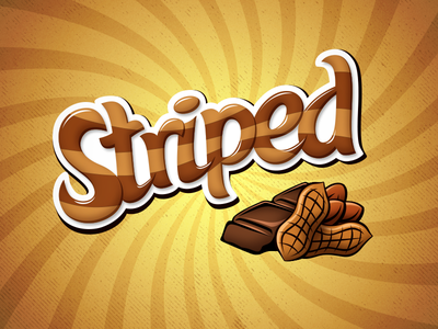 Striped logo packing striped peanut butter