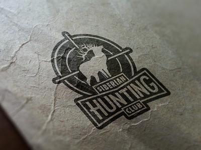 SHC Logo logotype design mock up hunting club logo black aim deer