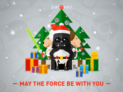 Happy new year! starters flat longshadow gifts vader sheep deathstar