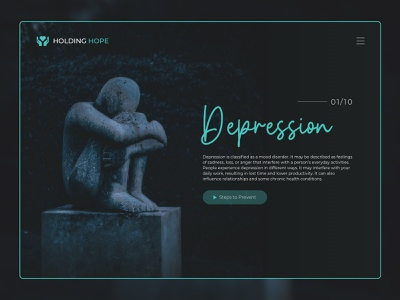 Holding Hope website minimal icon web ux branding typography ui design
