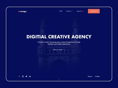 We Design Digital Creative Agency website logo minimal web ux branding vector ui typography design