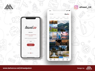 Travel.co Mobile App Design mobile ui vector design logo illustration