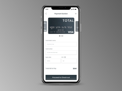 Credit card check out for mobile  #dailyui #002""