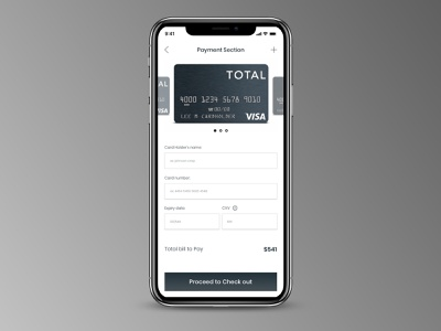 "Credit card check out for mobile  #dailyui #002"" mobile ui app typography ui"