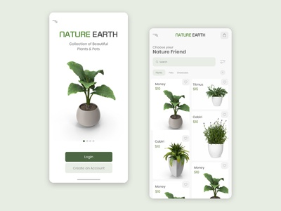 Nature Earth Mobile UI (e-Commerce)