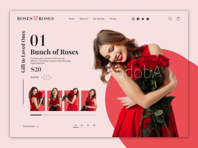 Roses and Roses ecommerce website design ecommerce app website ecommerce flat uiux uidesign mobile app app design web ux logo vector design illustration branding ui app typography mobile ui