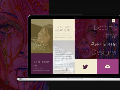 Upcoming website for school project webdesign school project ccd ui ux colourfull grid responisve