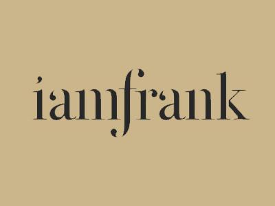 iamFrank. Logo design typography written calligraphy handwritten elegant graphic design graphic logo logo design iamfrank