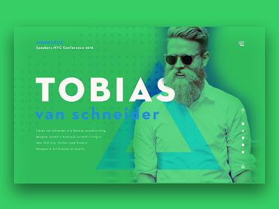DailyUI #3 - Tobias van Schneider awwwards third webdesign userinterface dailyui ui tobiasvanschneider