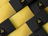 Golden business cards | Campus Creative Agency